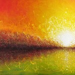 """Bursting Sun"" - Abstract Landscape Painting"