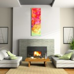 Abstract Canvas Art in Contemporary Home Setting