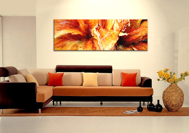 Large Abstract Canvas Art Painting - Passion