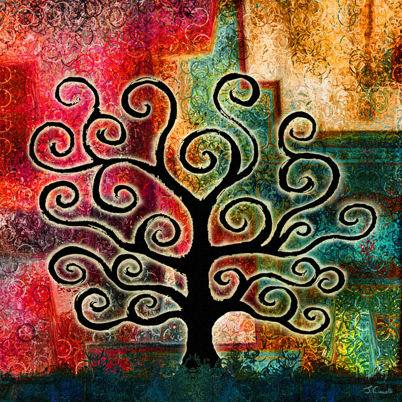 spiritual-abstract-paintings-tree-of-life