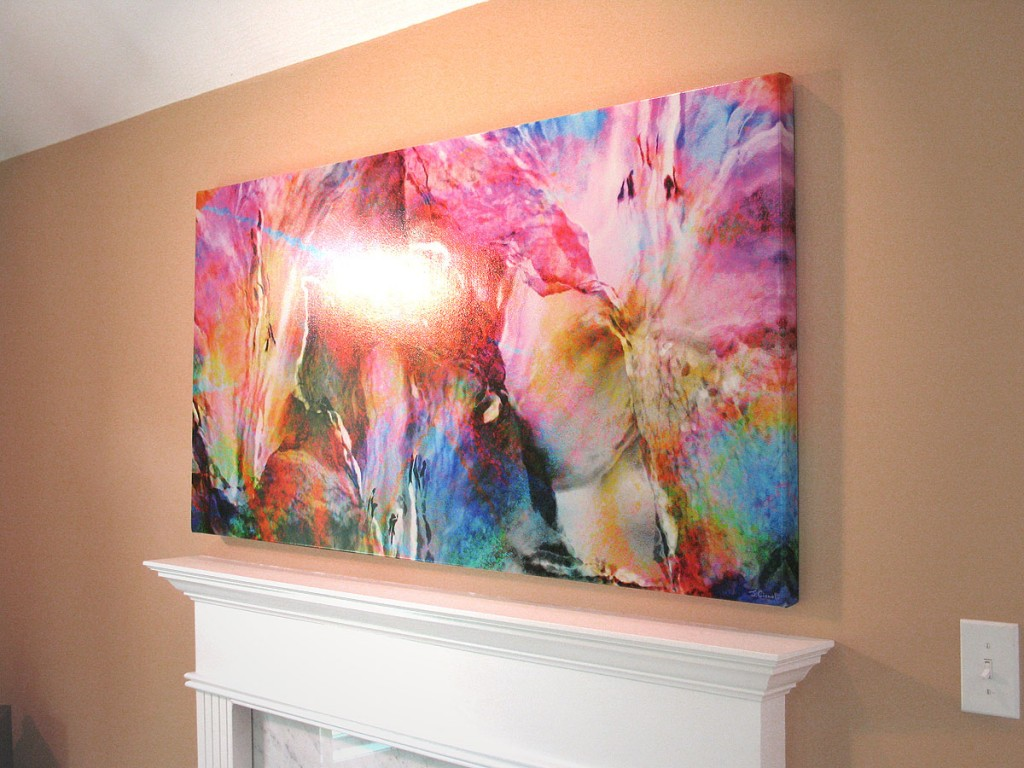 Abstract Flower Art Large Canvas Art Painting