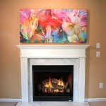 Custom Size Abstract Flower Art - Large Canvas Print