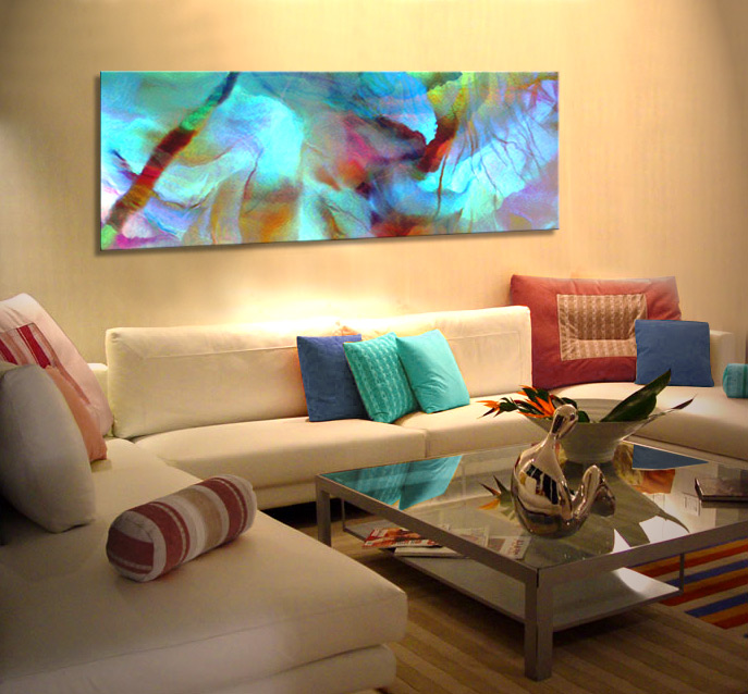 Abstract art for sale large canvas prints living room secret garden