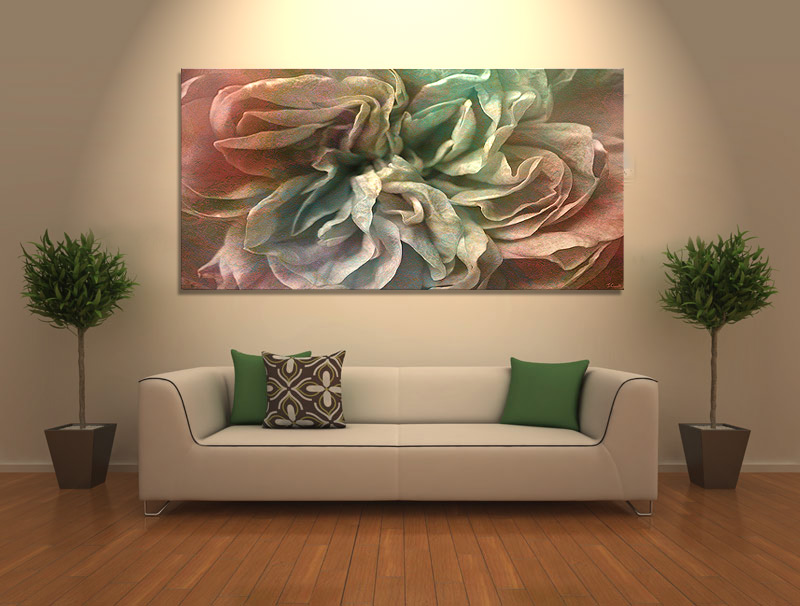 Abstract flower art canvas print flower dance in home