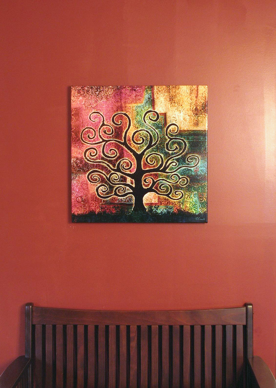 abstract tree paintings canvas