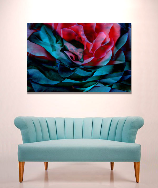 """Romance"" Abstract Flower Art Canvas Print"