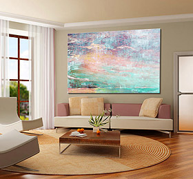 Large Abstract Canvas Art Print Modern Seascape Painting