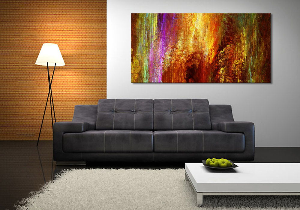 modern art print on canvas luminous