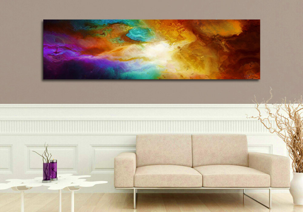 Large gallery canvas print heaven and earth 72 x 24 abstract energy art gallery