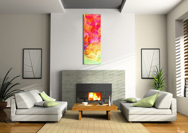 Cianelli Studios More Information Rosewater Large Abstract Art