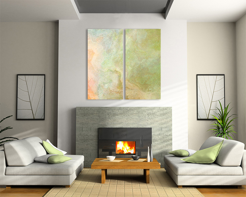 Large Abstract Art Triptych 3 Panel Canvas