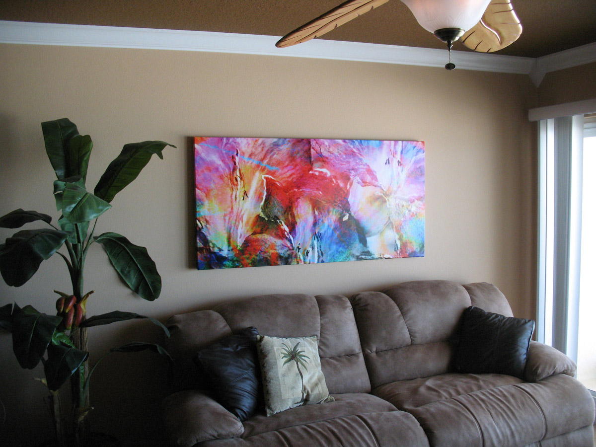 Beautiful Customer Pictures - Large Abstract Canvas Art - CI78